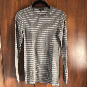 Ann Taylor knit metallic slim sweater